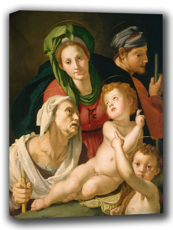 Bronzino, Agnolo: The Holy Family. Fine Art Canvas. Sizes: A4/A3/A2/A1 (001978)